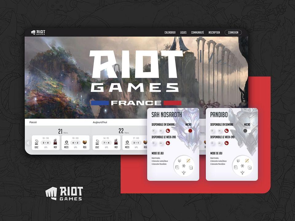 Nouveau site Riot Games France