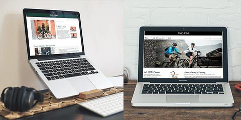 Moderne Produktdarstellung von Fahrradmarken