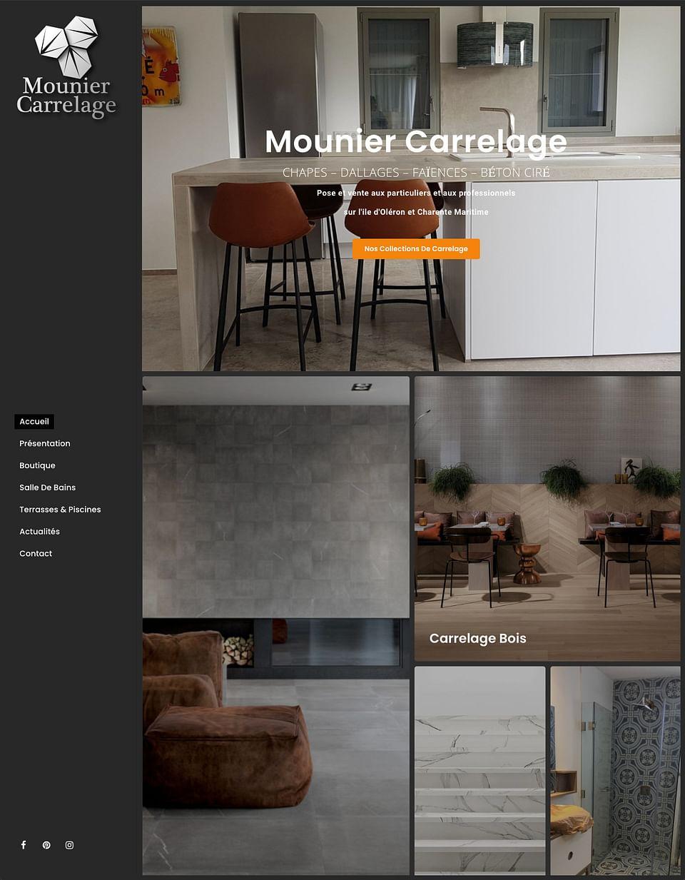 Site internet avec catalogue en ligne