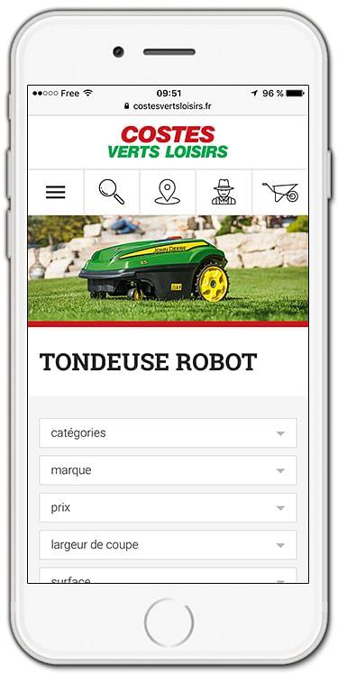 Boutique en ligne Costes Verts Loisirs - E-commerce