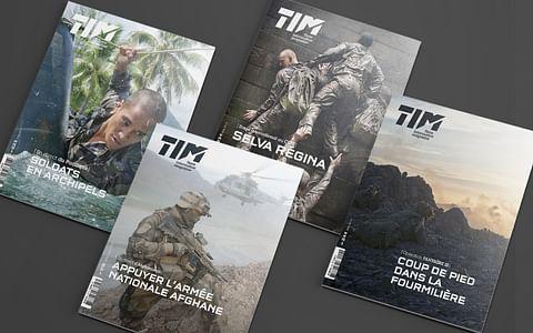 Identité et design de presse pour TIM (MINDEF)