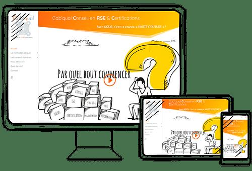 Refonte complète d'un site vitrine - Stratégie digitale