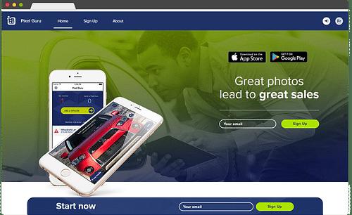 Application mobile pour la vente de voiture - E-commerce