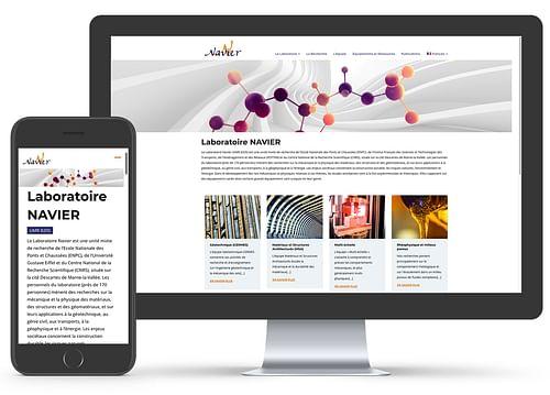 Refonte du site Internet du Laboratoire Navier - Création de site internet