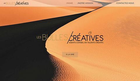 Création site : Les Bulles créatives