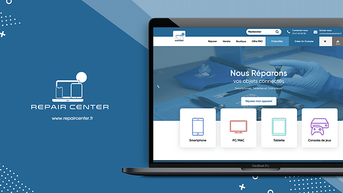 Site web I Repair Center - E-commerce