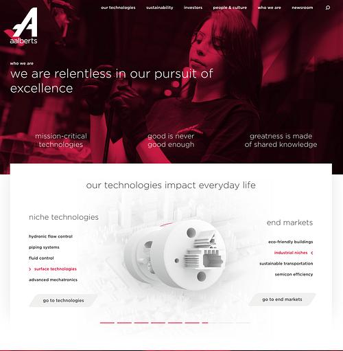 Aalberts Coorporate website - Branding & Positionering