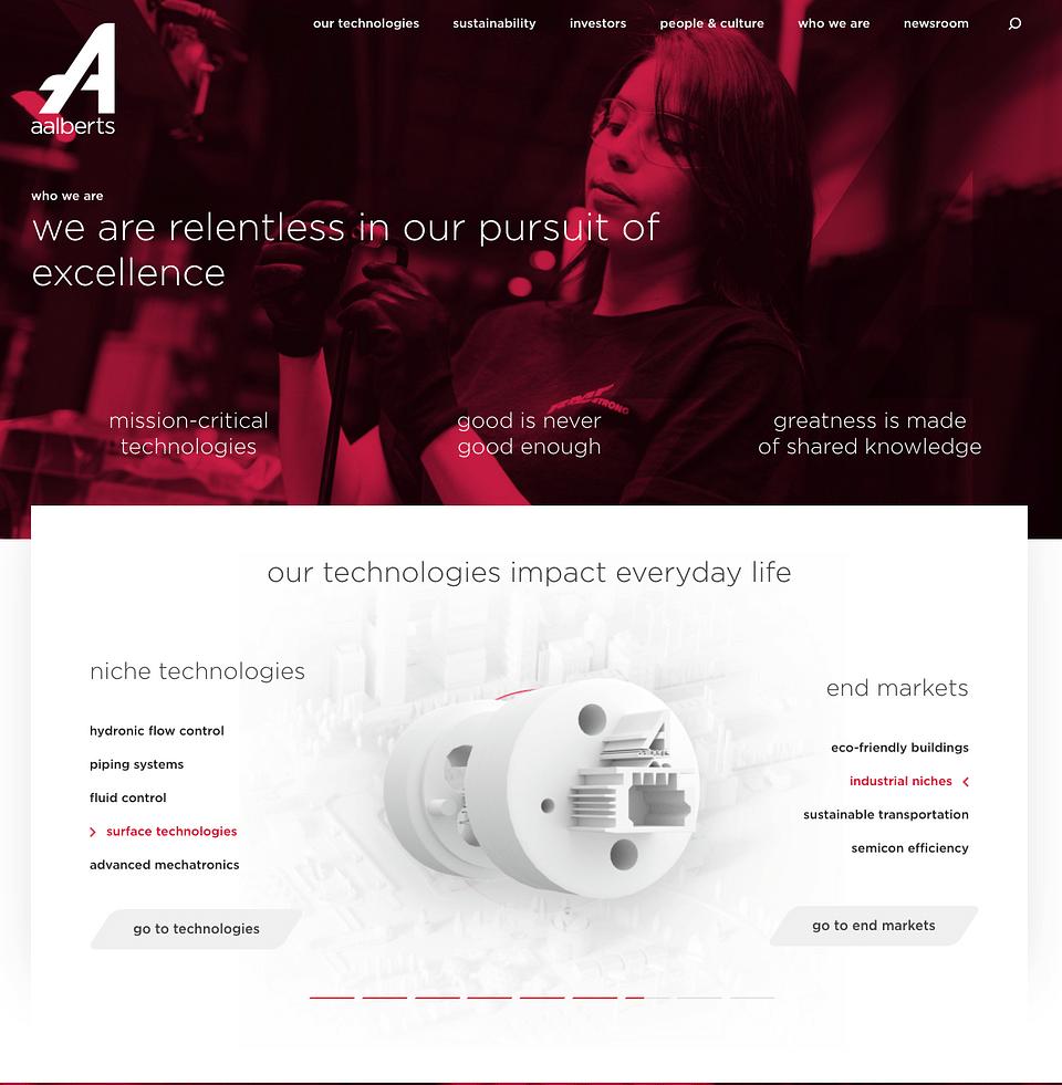 Aalberts Coorporate website