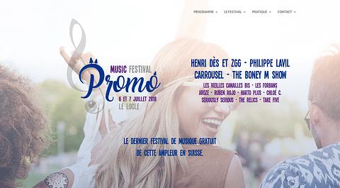 Music Festival Promo - Site Internet
