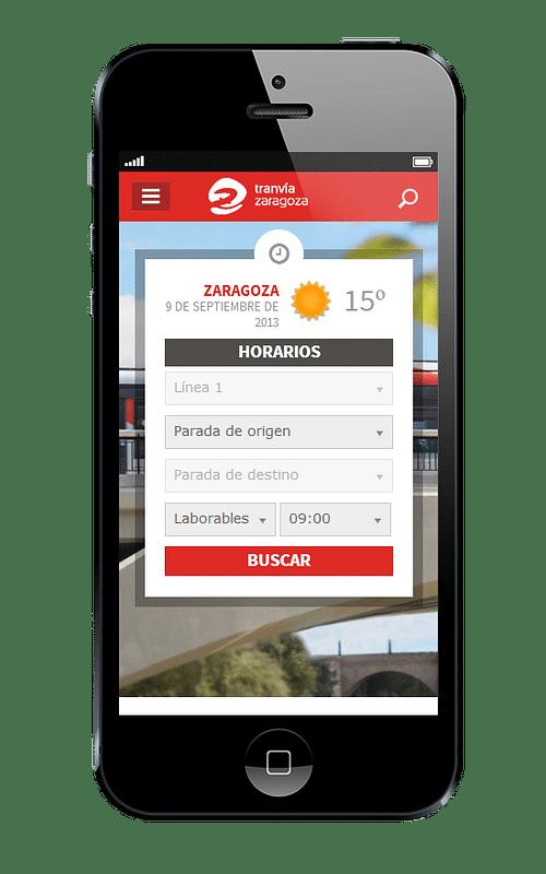Web oficial Tranvías de Zaragoza - Creación de Sitios Web