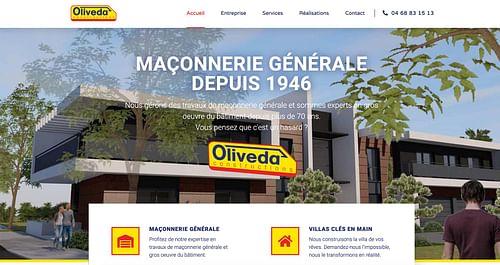 Création de site web Oliveda Constructions - Création de site internet