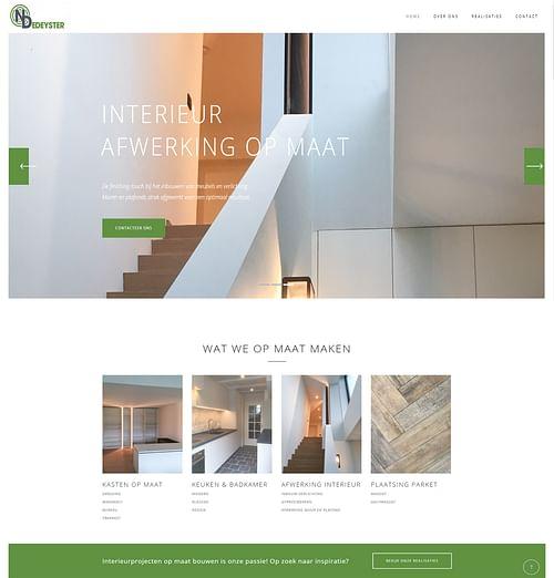 Website voor Nico Dedeyster - interieur op maat - SEO