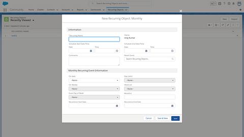 Salesforce Recurring App