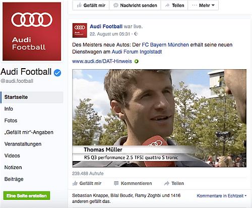 Live Übertragung - FC Bayern München. - Grafikdesign