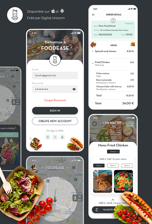 Foodease - Application mobile