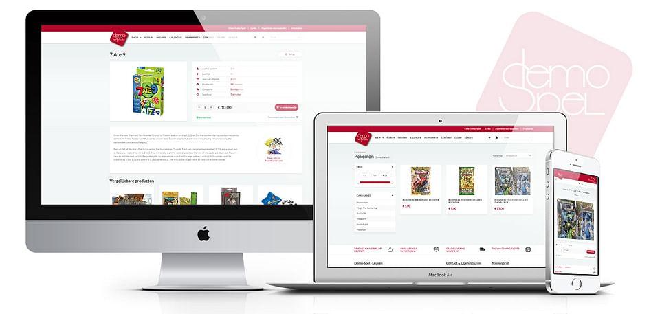 Online shop voor spellenwinkel Demo-Spel