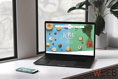 Le Poti' Panier - Livraison Fruits et Légumes Bio - Création de site internet