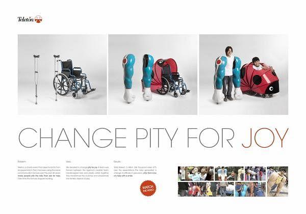 CHANGE PITY FOR JOY