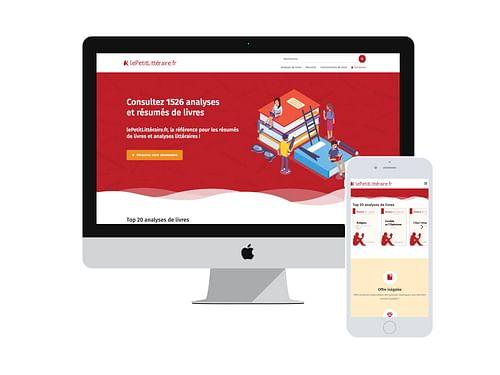 Site Web for Le Petit Littéraire - E-commerce