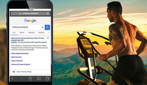 Campagne Google Ads pour une chaine de fitness