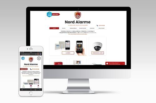 Site web vitrine Nord Alarme - Design & graphisme