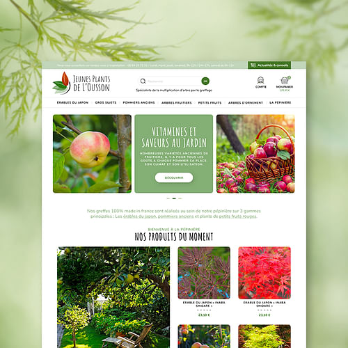 Jeunes Plants de l'Ousson : e-shop sous Prestashop - Création de site internet
