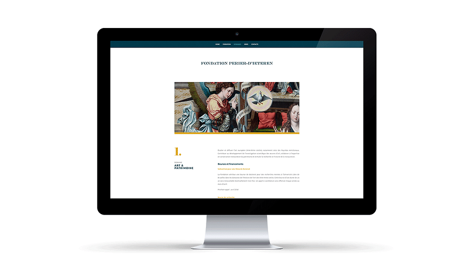 Website design & development for Perier-D'ieteren
