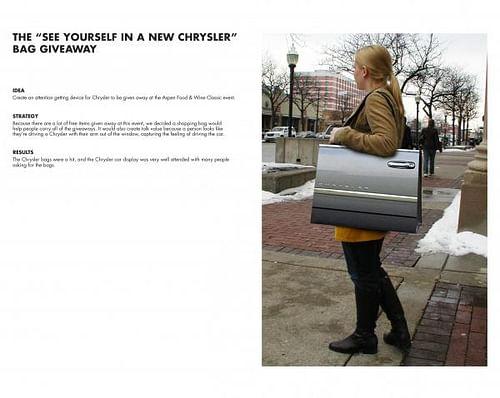 CHRYSLER BAG - Advertising