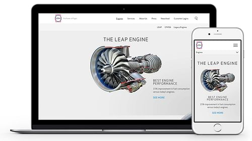 CFM Engines - website design & build - Website Creation