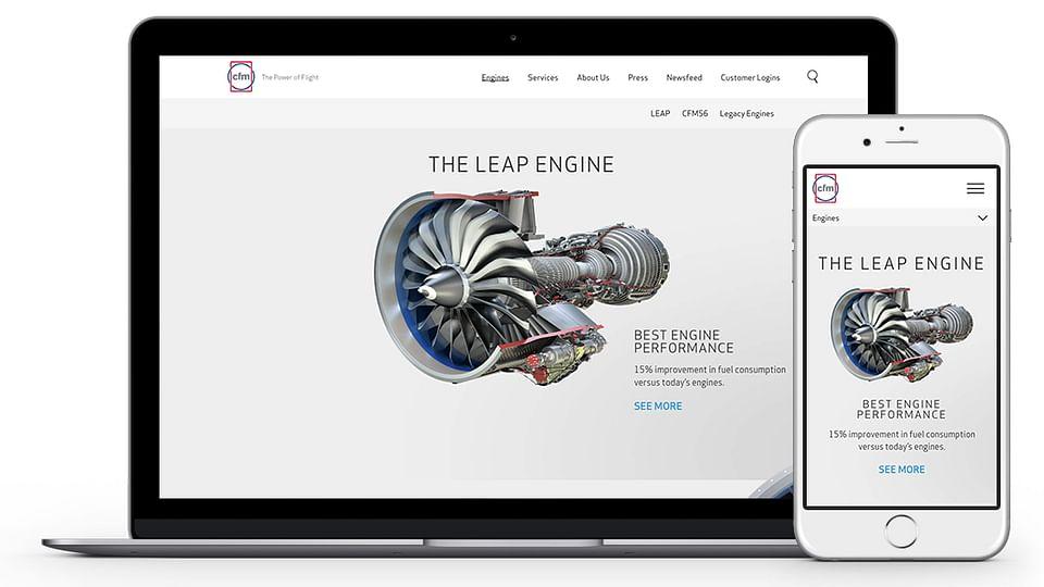 CFM Engines - website design & build