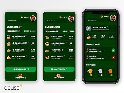 Application mobile de paris sportifs - Mobile App