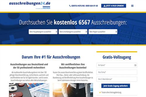 Digitalstrategie und Umsetzung Submissions-Anze... - Webseitengestaltung