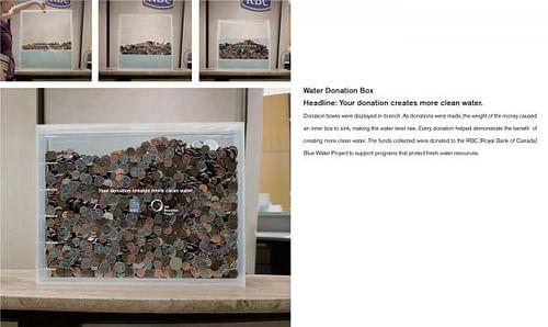 Water Donation Box - Advertising