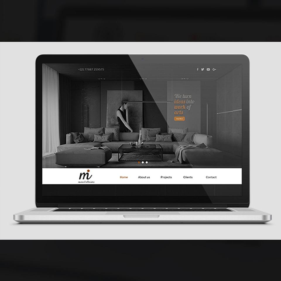 Website Creation for an Interior design firm