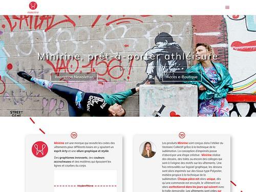 Site prêt à porter sport - Création de site internet