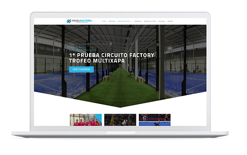 Padel Factory - Creación de Sitios Web