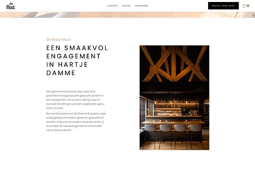 Website voor Mout Damme - Website Creatie