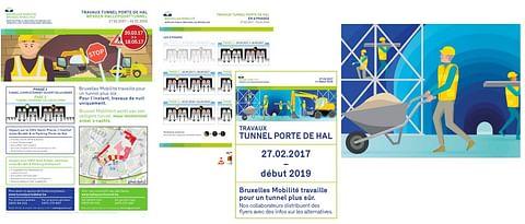 Infographics maken werken hallepoorttunnel