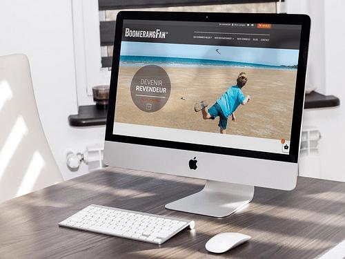 Site e-commerce Boomerang Fan - E-commerce
