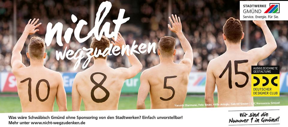 """Stadtwerke Gmünd, Imagekampagne """"Nicht wegzuden..."""