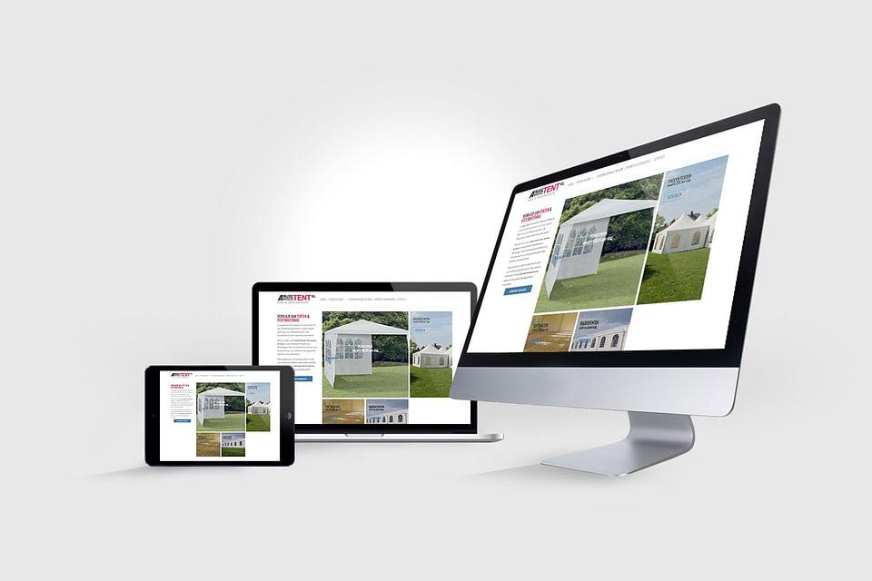 Responsive website voor Verhuurbedrijf