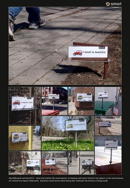 SMART LITTLE BILLBOARDS - Advertising