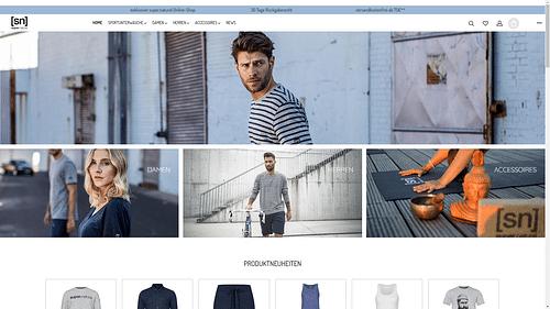 Onlineshop für Super.Natural Merino Wear - Webseitengestaltung