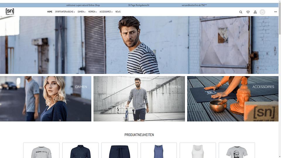 Onlineshop für Super.Natural Merino Wear