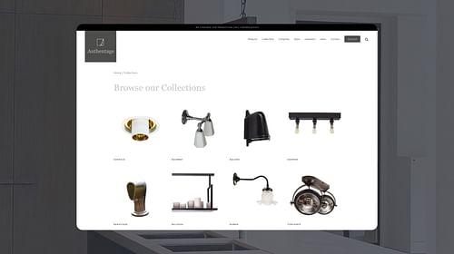 Webshop Authentage - E-commerce