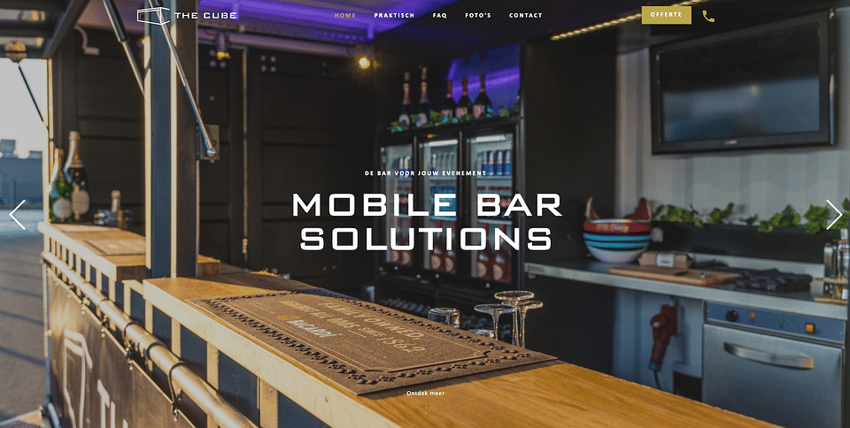 Website, Cube Rental