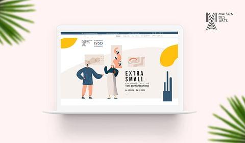 Website for la Maison des Arts