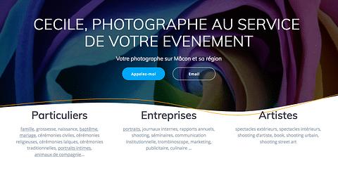 Création site internet photographe
