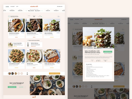 Delivering delicious, healthy meals to one mobile - Mobile App