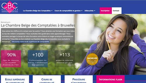 Chambre belge des Comptables - Référencement naturel